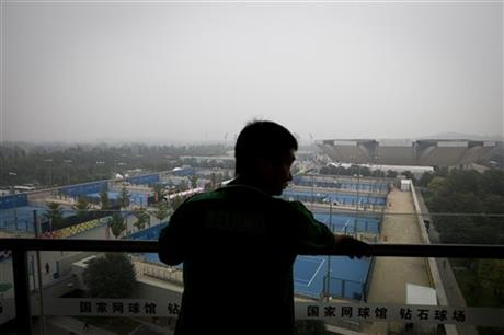 Another glorious day at the China National Tennis Center. Photo credit: Andy Wong/AP Photo