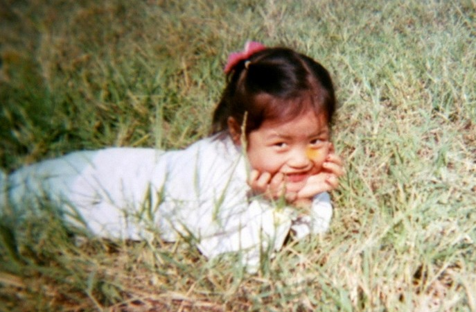 Aged 4, in park in her hometown Wuhan
