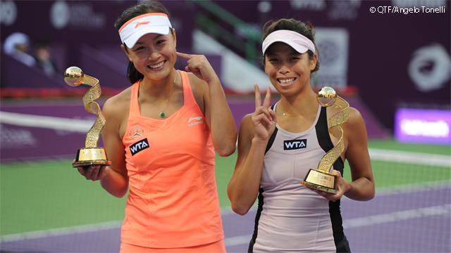 Peng Shuai and Hsieh Su-wei win the Qatar Open in Doha