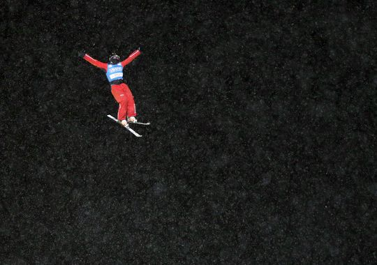 The evening aerials competition provided some stunning shots