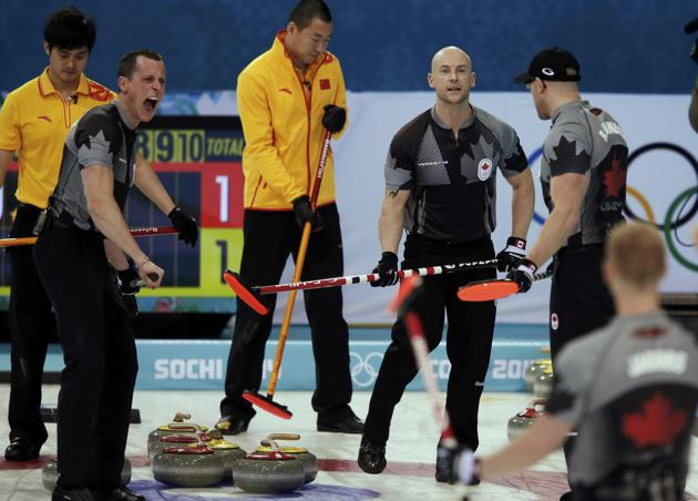 Canada beats China 10-6 in Olympic curling semifinal