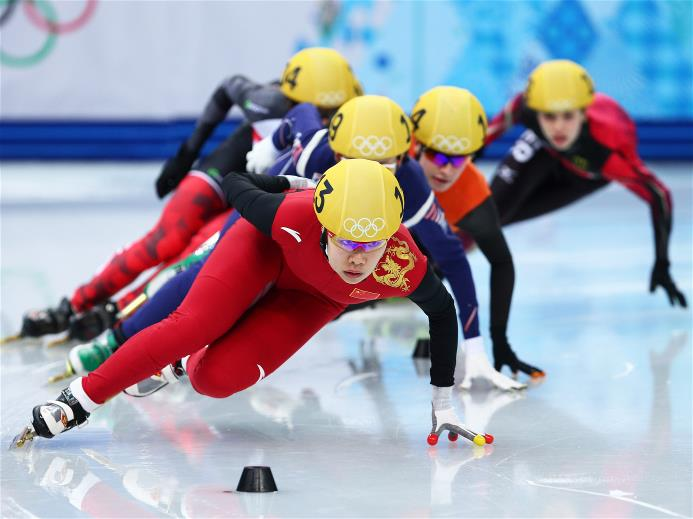 Zhou Yang defends her 1,500 m title in Sochi