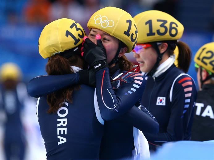 Tears of joy for the Koreans - unlike four years ago