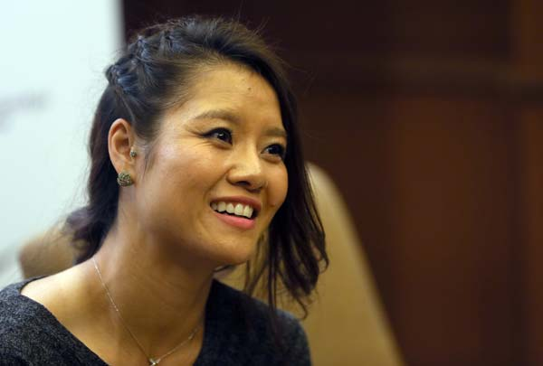 Li Na at Beijing book launch