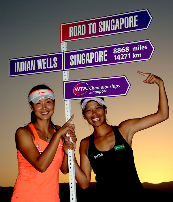 Peng and Hsieh continue their perfect partnership