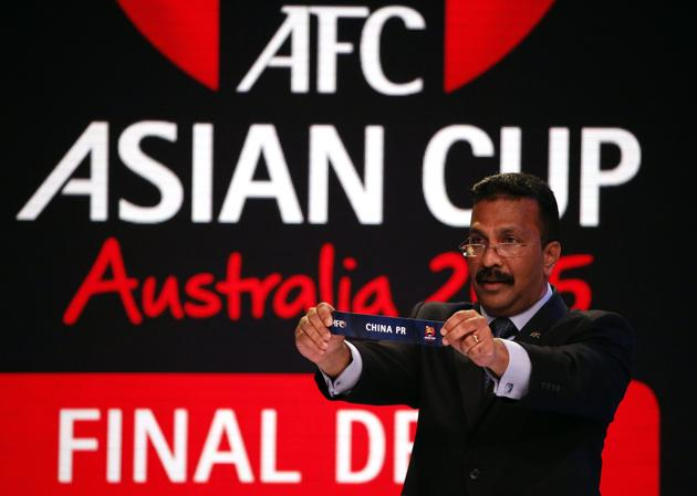 China named in Group B at Asian Cup draw