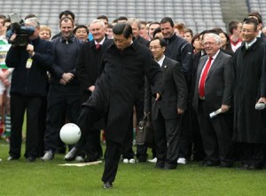 Xi Jinping at Croke Park in Feb 2012