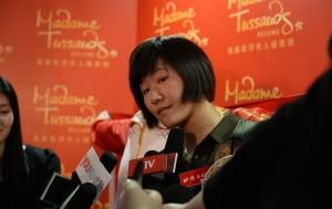 Ye Shiwen waxwork Madame Tussauds Beijing