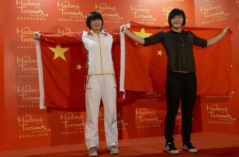 Ye Shiwen waxwork in Beijing Madame Tussauds