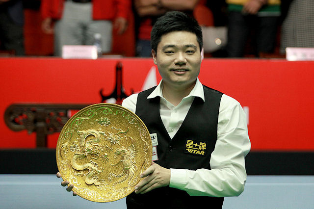 Ding Junhui won the China Open in Beijing - his fifth major title of the season