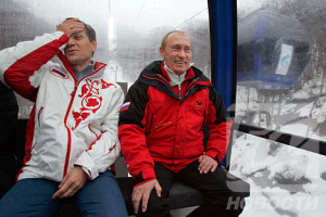 Zhukov and Putin in Sochi