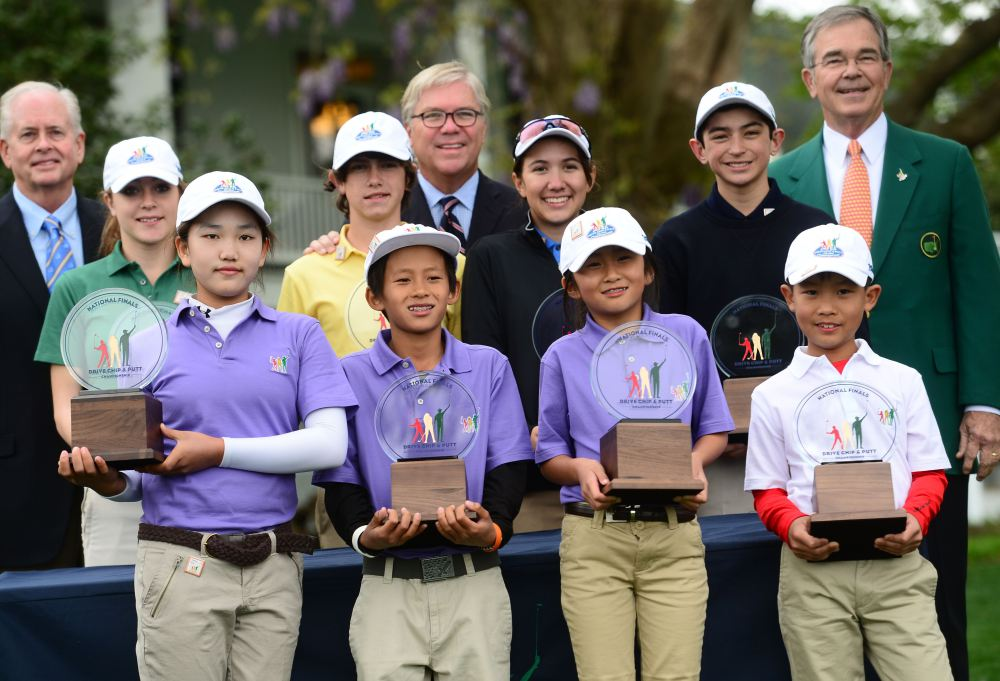 Front row (L-R): Lucy Li, 11, Leo Cheng, 11, Kelly Xu, 9, Treed Huang, 9.