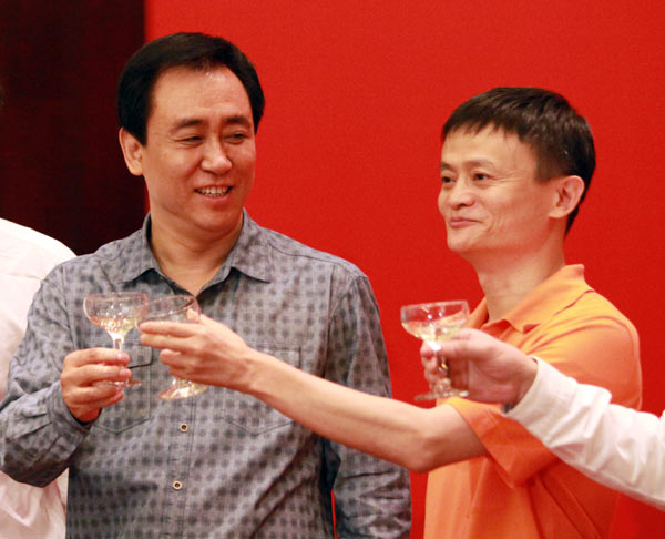 The drinking continues: Evergrande's Xu Jiayin and Alibaba's Jack Ma