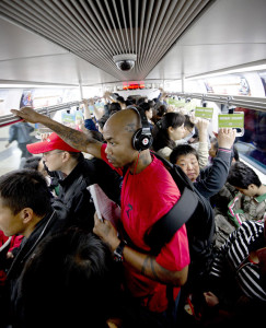 Stephon Marbury on the Beijing subway