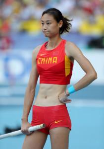 Chinese pole vaulter Li Ling