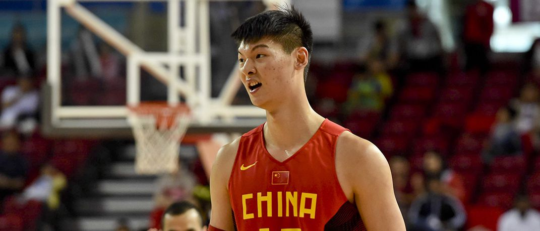 Wang Zhelin currently plays for the Fujian Sturgeons in the CBA