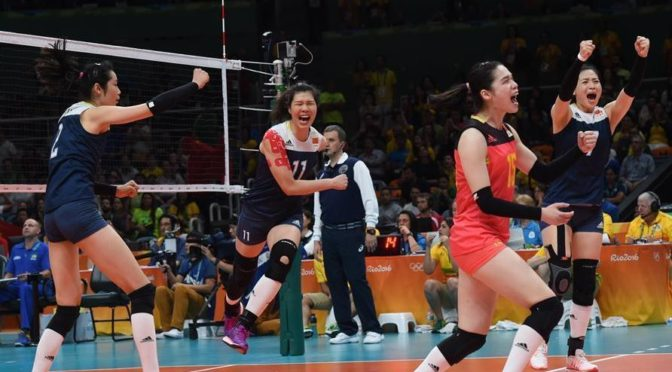 China's volleyball women stay in hunt with huge win