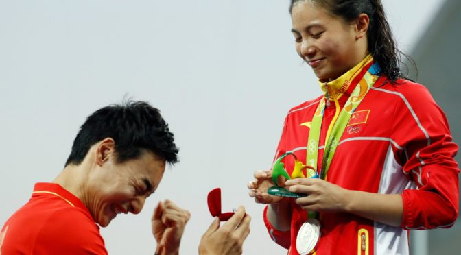 China winning gold in more ways than one